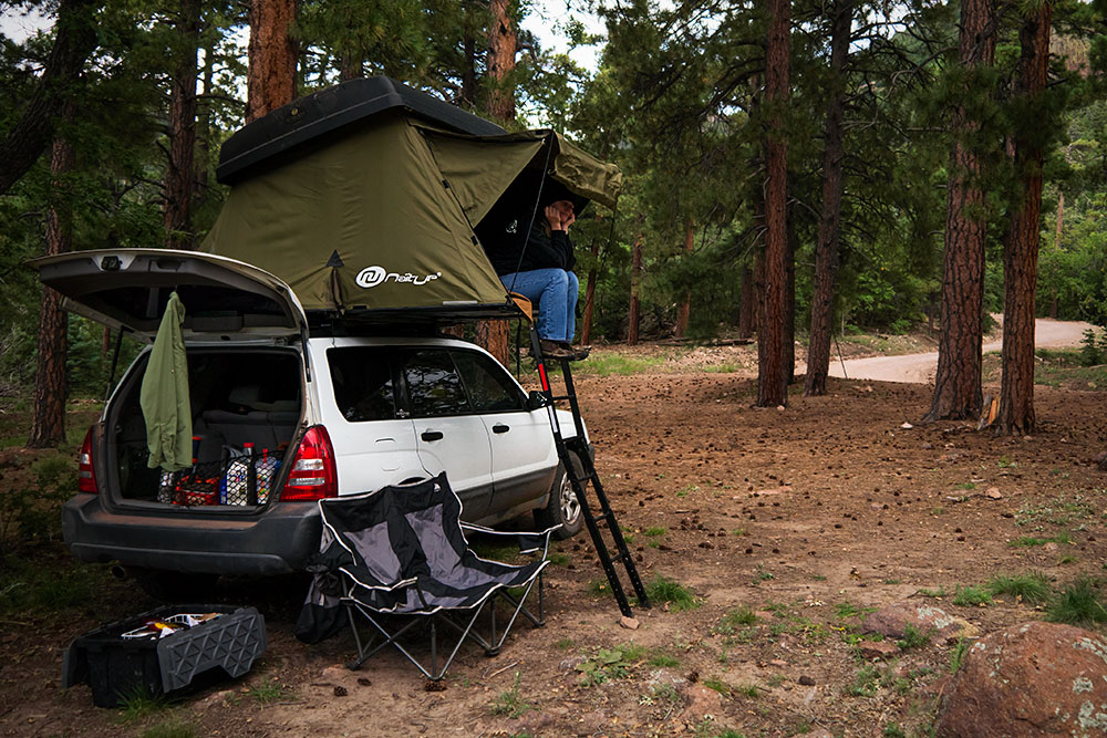 Roof Top Tent on a Forester