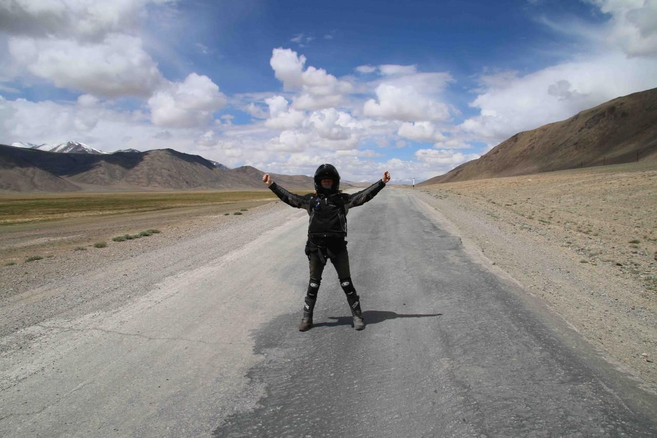 A distinct lack of traffic on the Murghab Plateau
