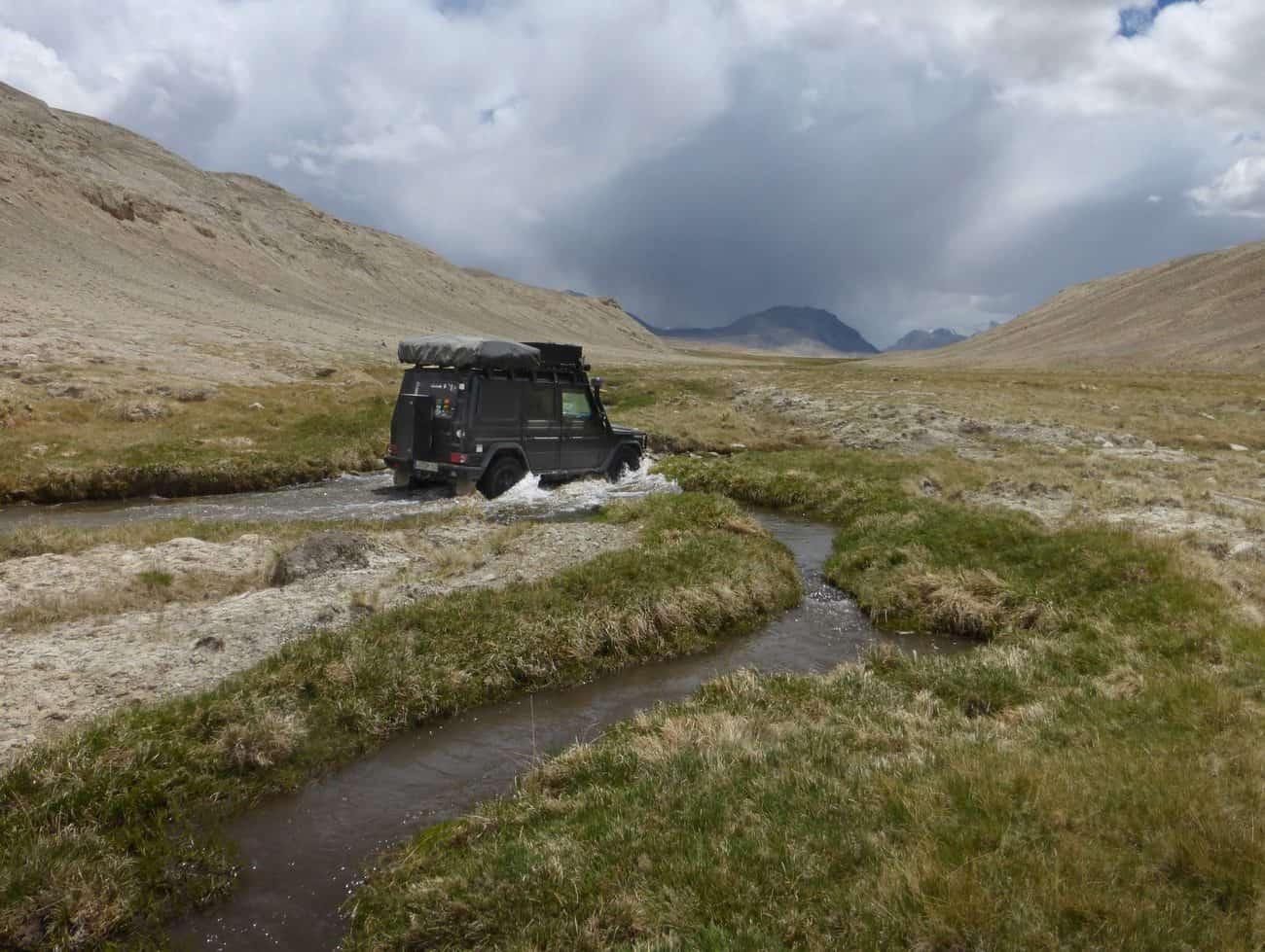 Small River Crossing Near Alichur River