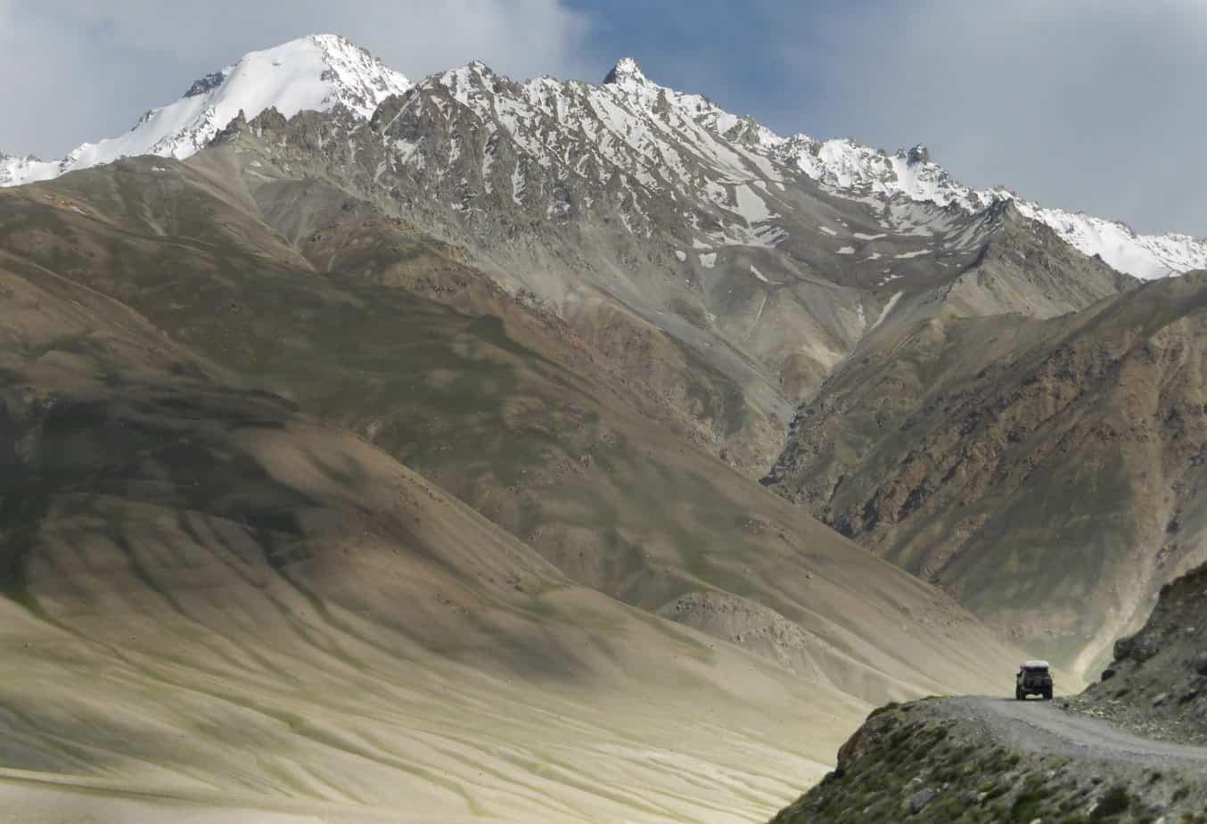 View Across The Hindu Khush Mountains in Pakistan