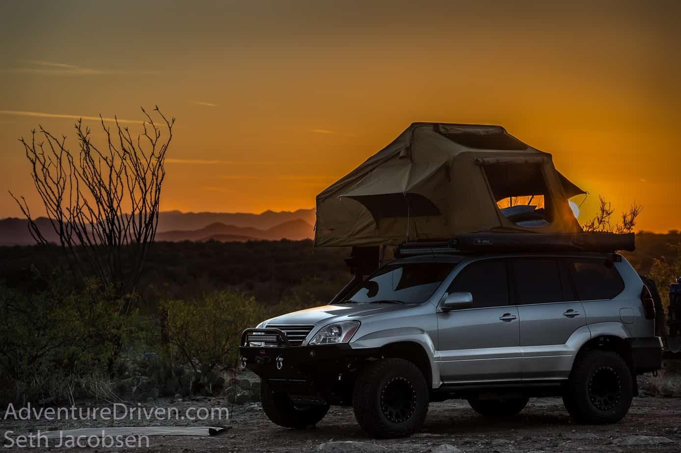 Adventure Driven 23 Zero tent sunset-1-2
