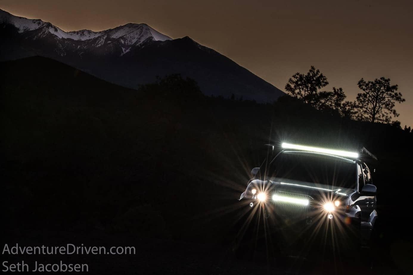 Adventure Driven 3-4 front kc hilites sunset-1-2 (Copy)