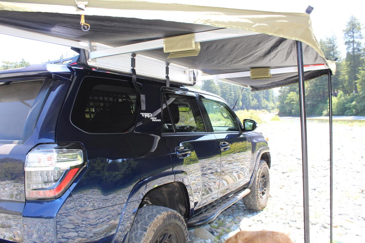 5th Gen 4 Runner Victory 4x4 3 4 Length Rack And Brand New 23 Zero Peregrine 180 Awning California Expedition Portal