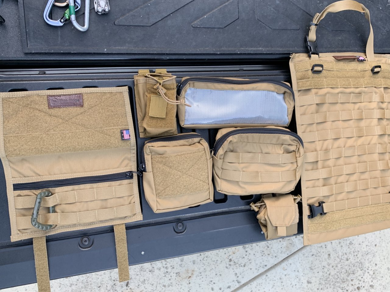 FS: Blue Ridge Overland Gear Molle pouches/Backseat gear