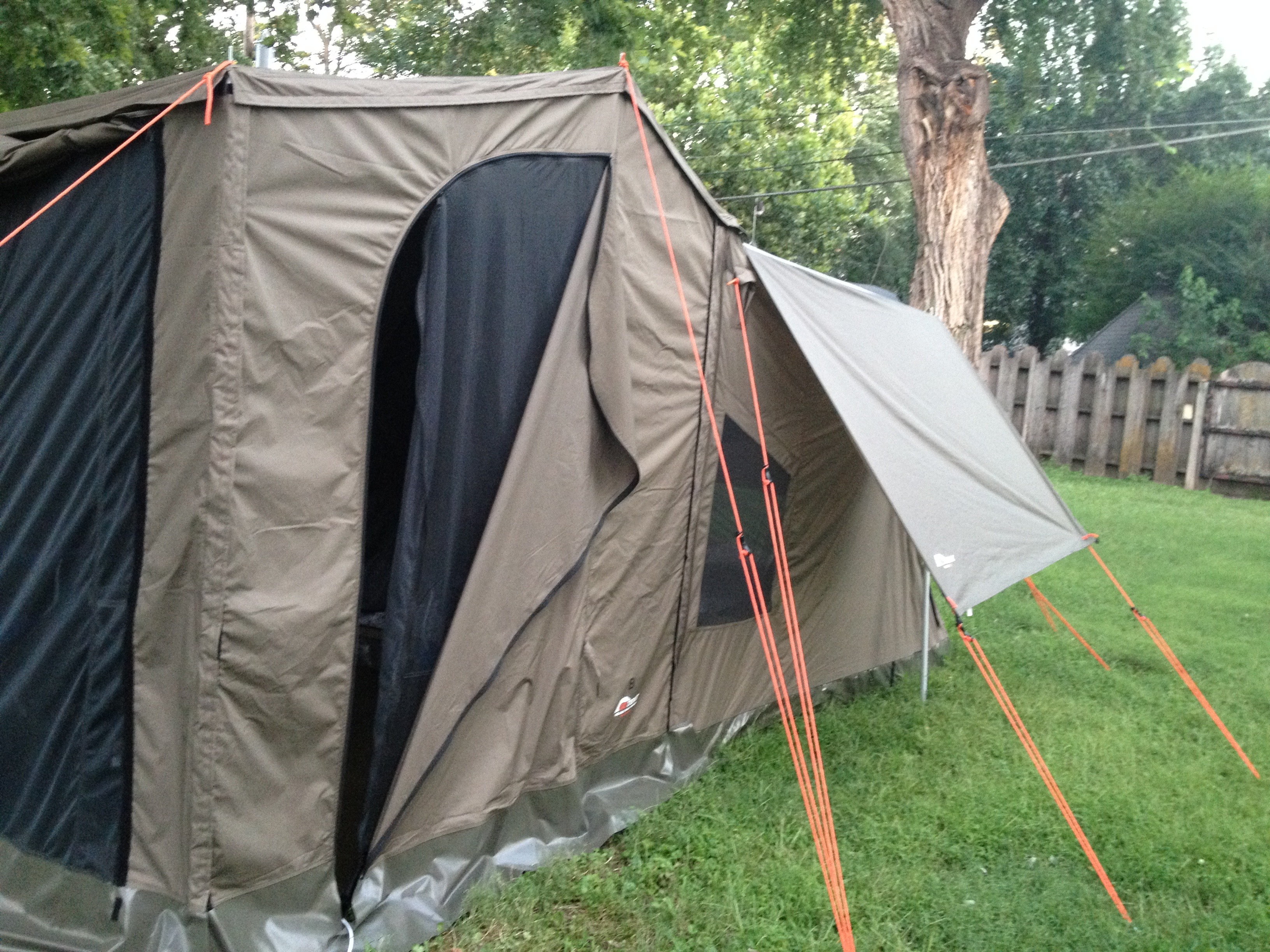 IMG_3427.jpg & SOLD-OzTent RV-5 peaked side panels deluxe front panel rain fly ...