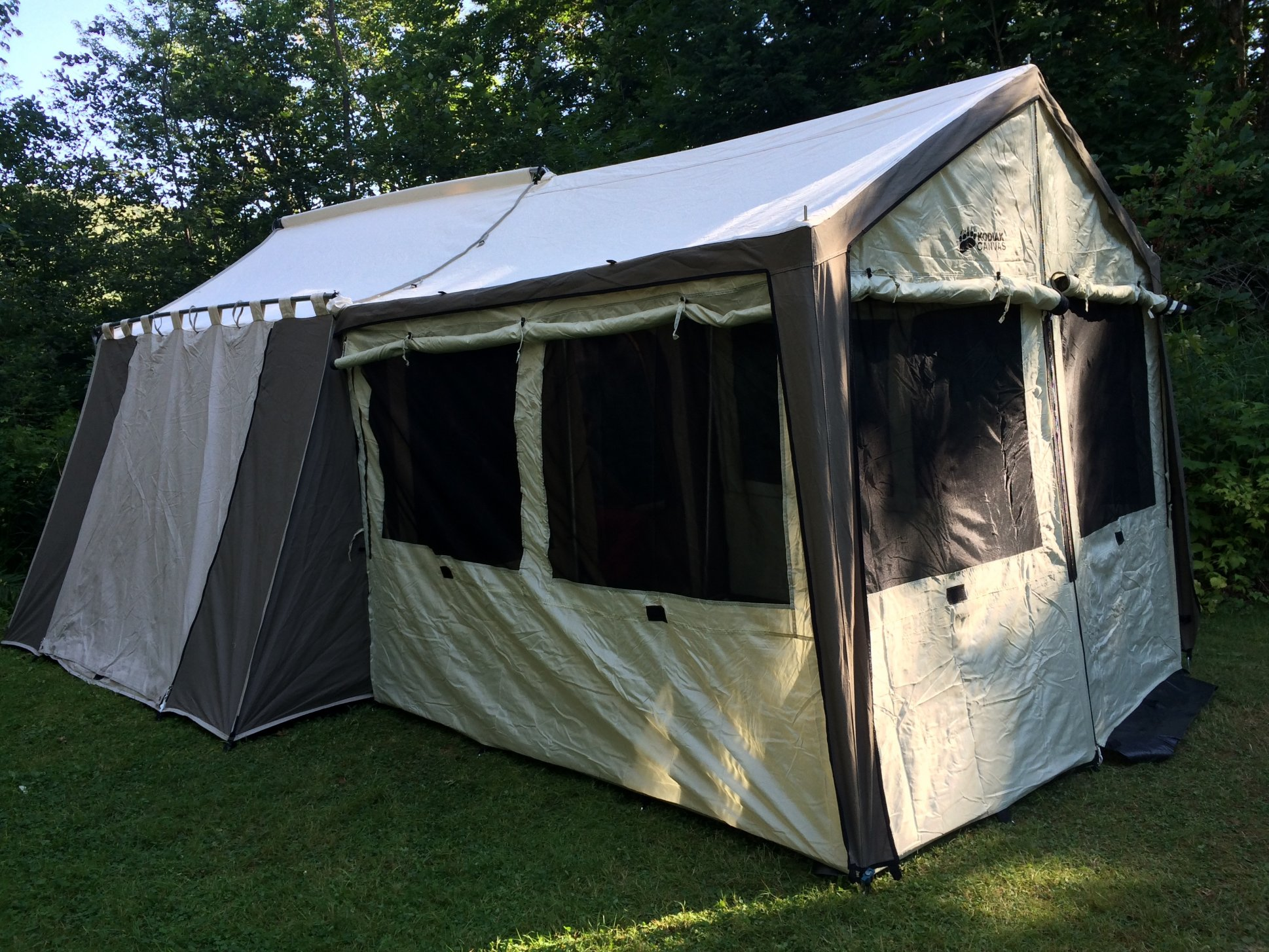 best loved 5c0c5 cac8d Kodiak Canvas Cabin Tent w Deluxe Awning and Wall Enclosure ...