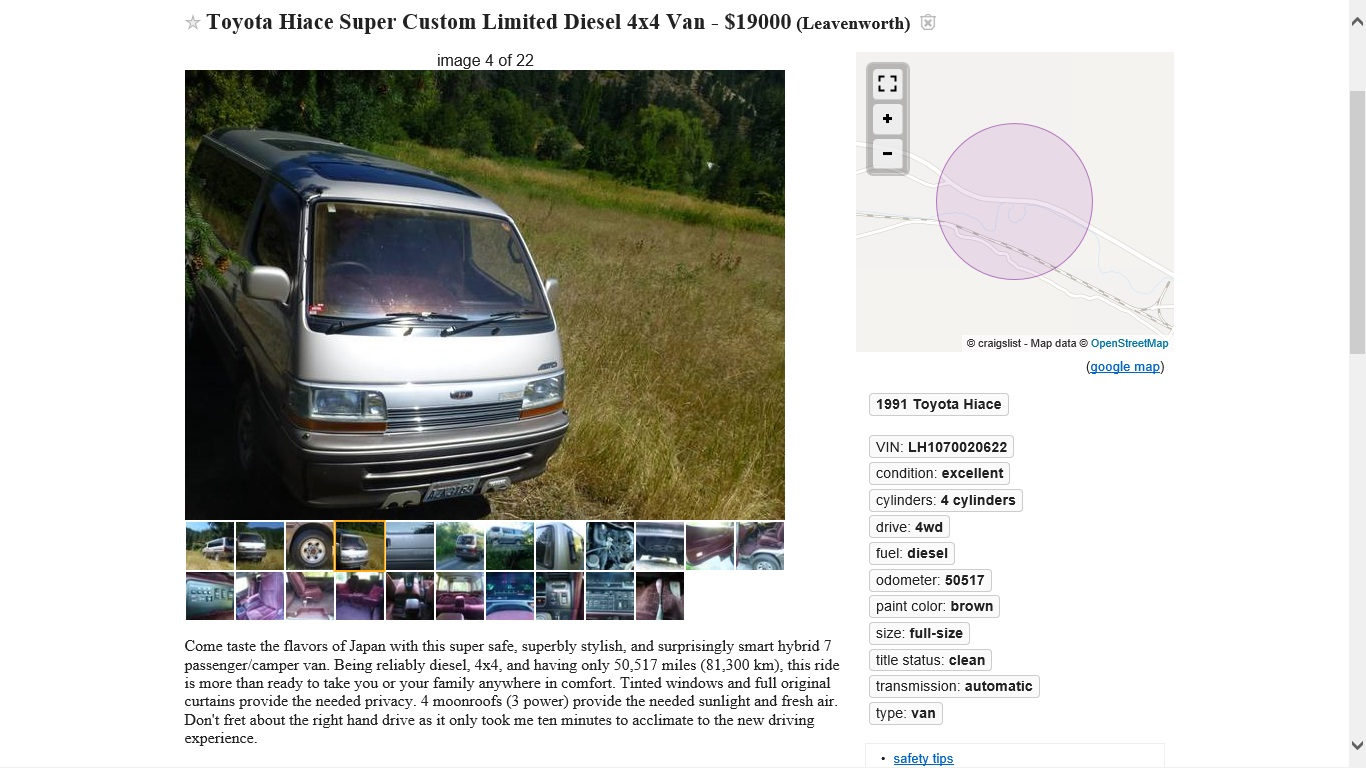 """WARNING! """"US Legal"""" JDM 70/80 series Land Cruisers and Hiace/Delica ..."""