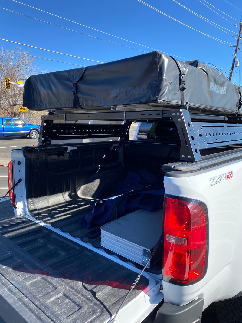 Fs Retractable 5 Bed Cover And Tent Rack For 2015 Chevy