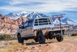 Ford F250 Tremor with Norweld Deluxe Weekender Tray in Desert Below La Sal Mountains near Moab 2.jpg