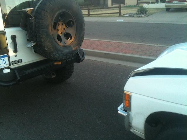 AEV Rear Bumper Accident