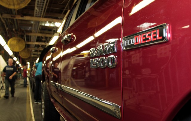 Ram 1500 EcoDiesel coming off the line at Warren Truck Assembly Plant