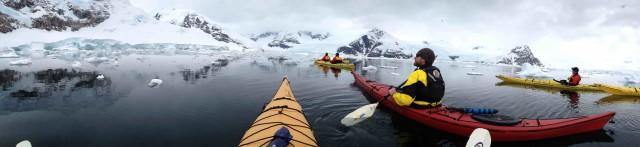 Sea kayaking off Antarctica - no big deal