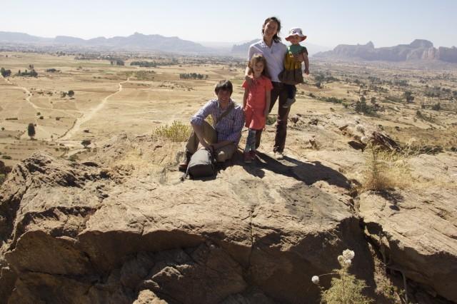Family in the mountains Ethiopia