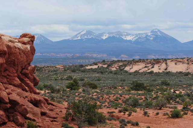 Moa1-View across Arches NP to La Sal Mtns