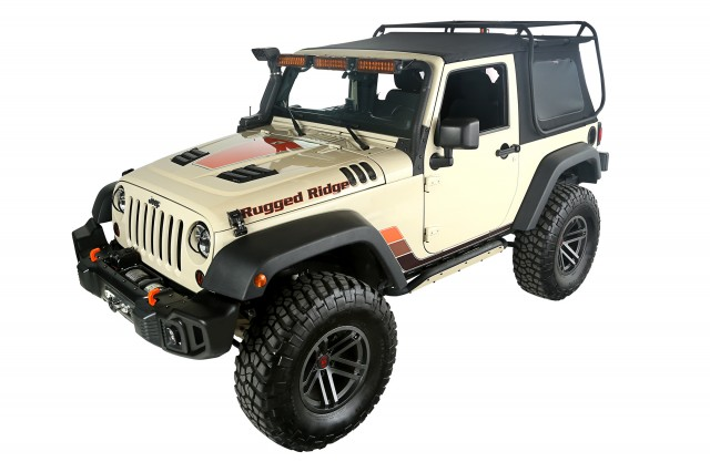 Rugged Ridge Exo-Top for 2-Door JK - Front 3Q
