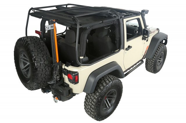 Rugged Ridge Exo-Top for 2-Door JK - Rear Roof Closed - Rear 3Q (1)