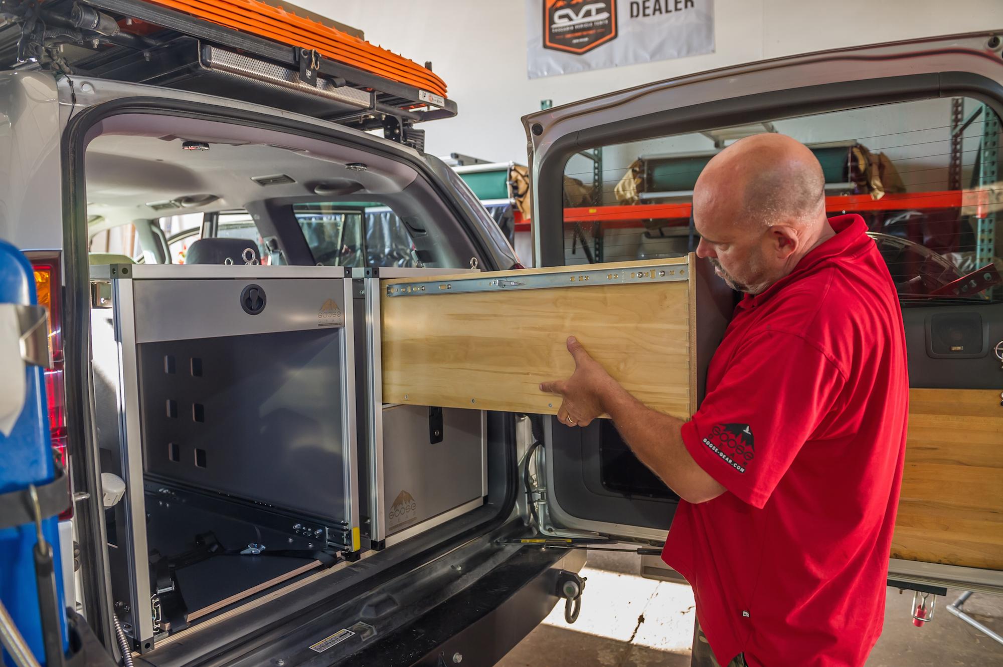 Matt  installing goose gear drawer in Lexy-1