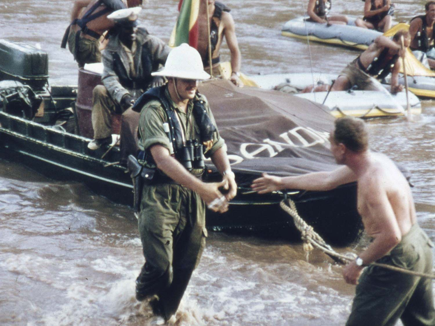 Coming ashore _ End of Blue Nile Expedition 1968