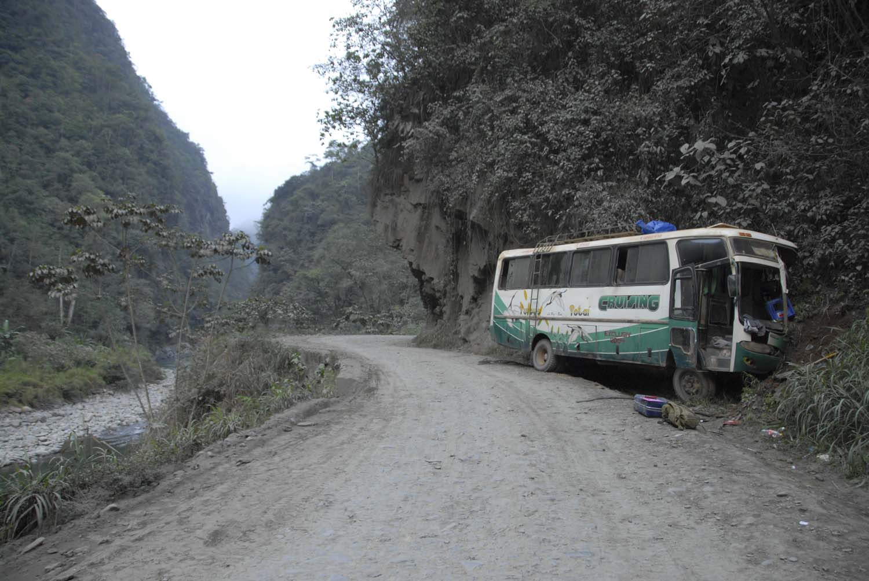 Crash on road of death _ Bolivia