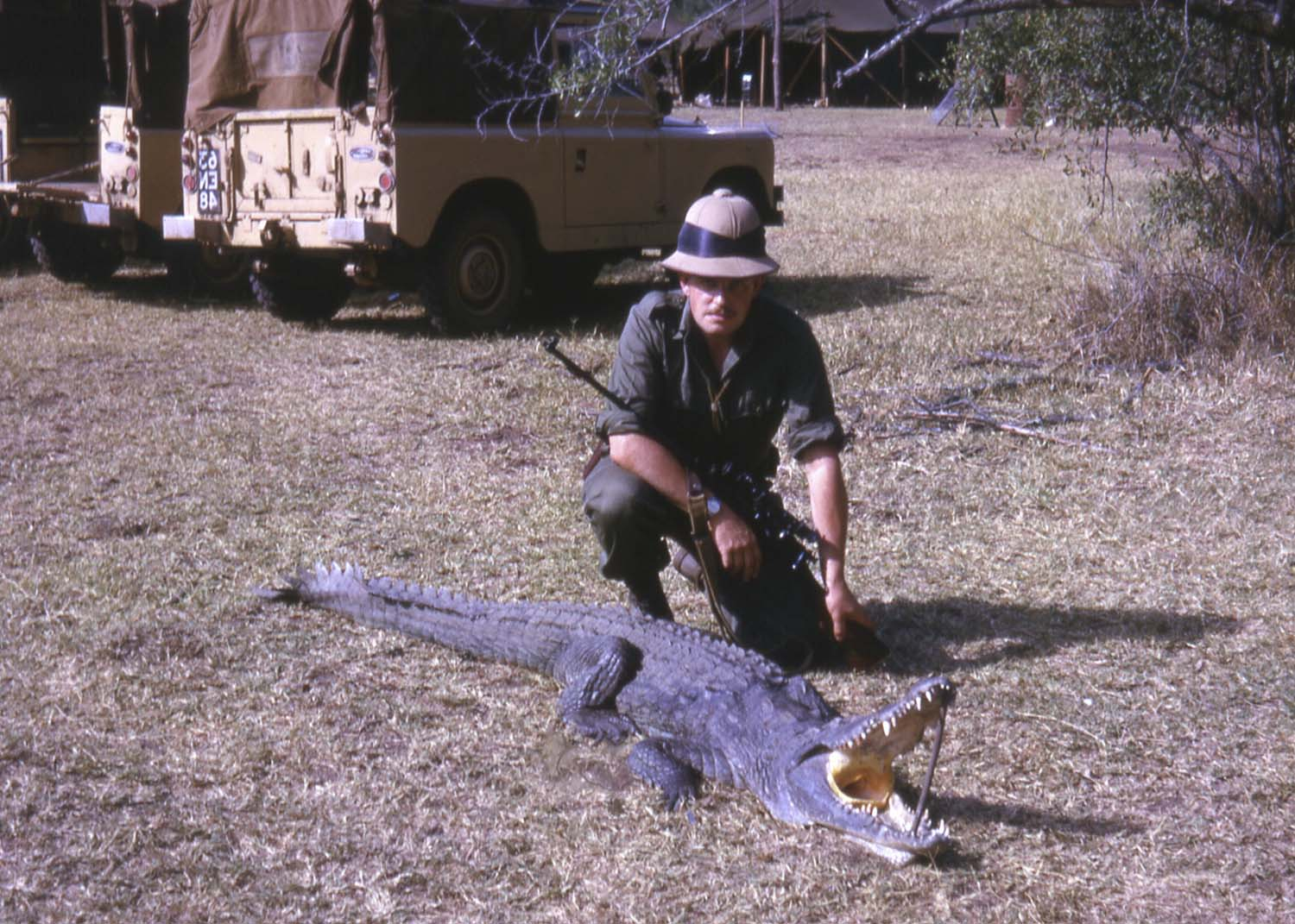 jbs and the croc that tried to eat him Ethiopia 1966