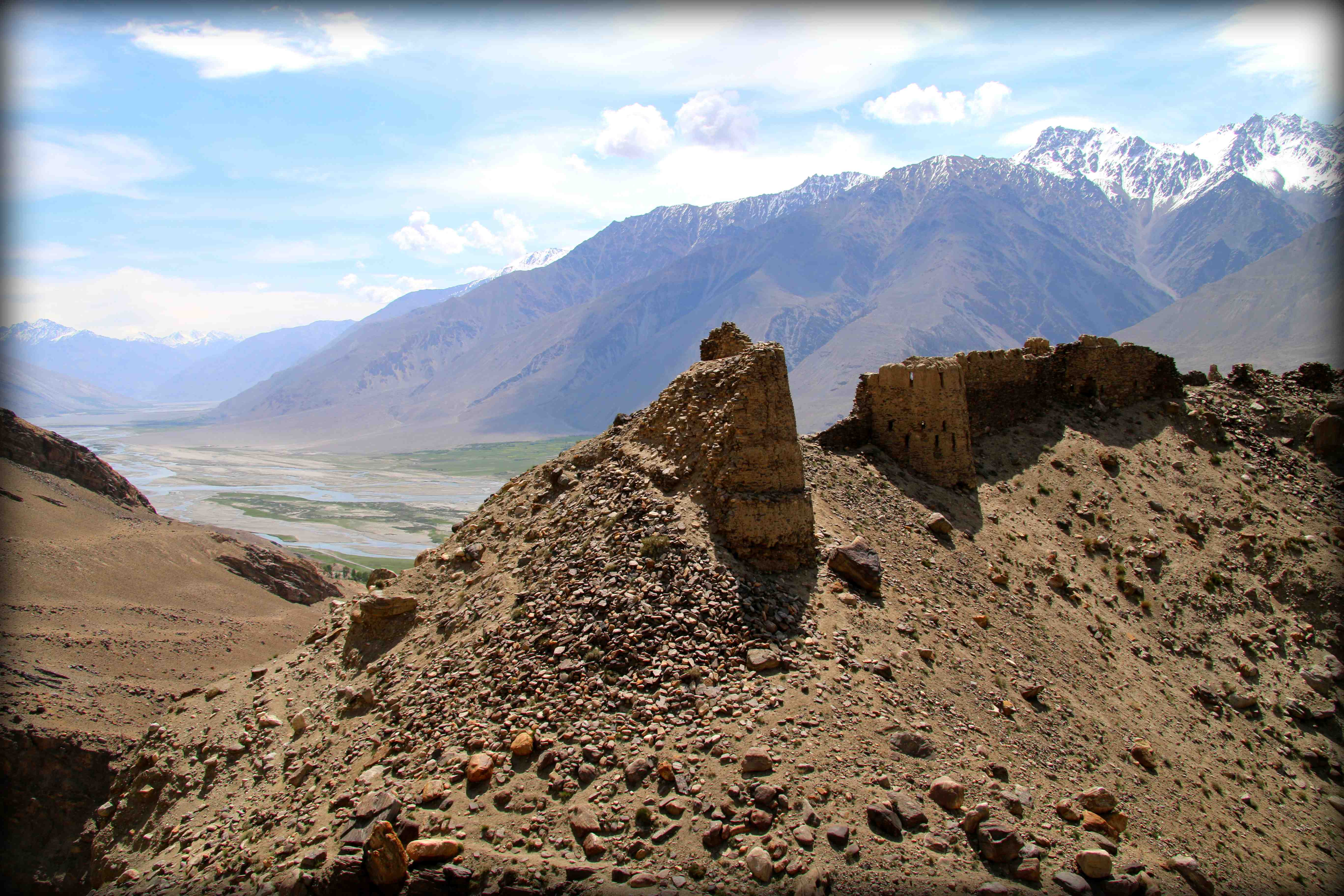 2000 year old Silk Road fortress in the Wakhan. What a view.