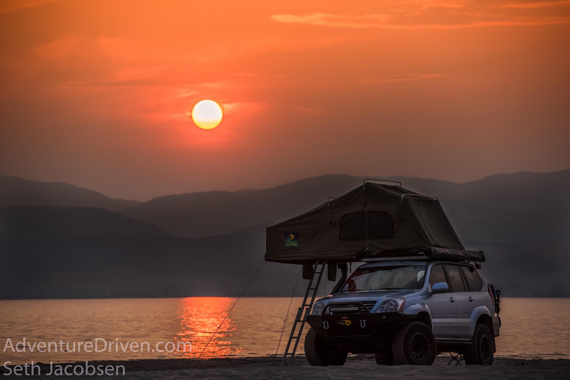 adventure driven gx470 lexus beach-1