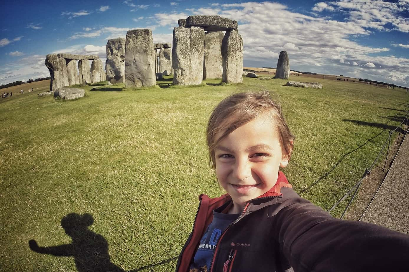 Vladimir's first selfie ever, Stonehenge, UK.