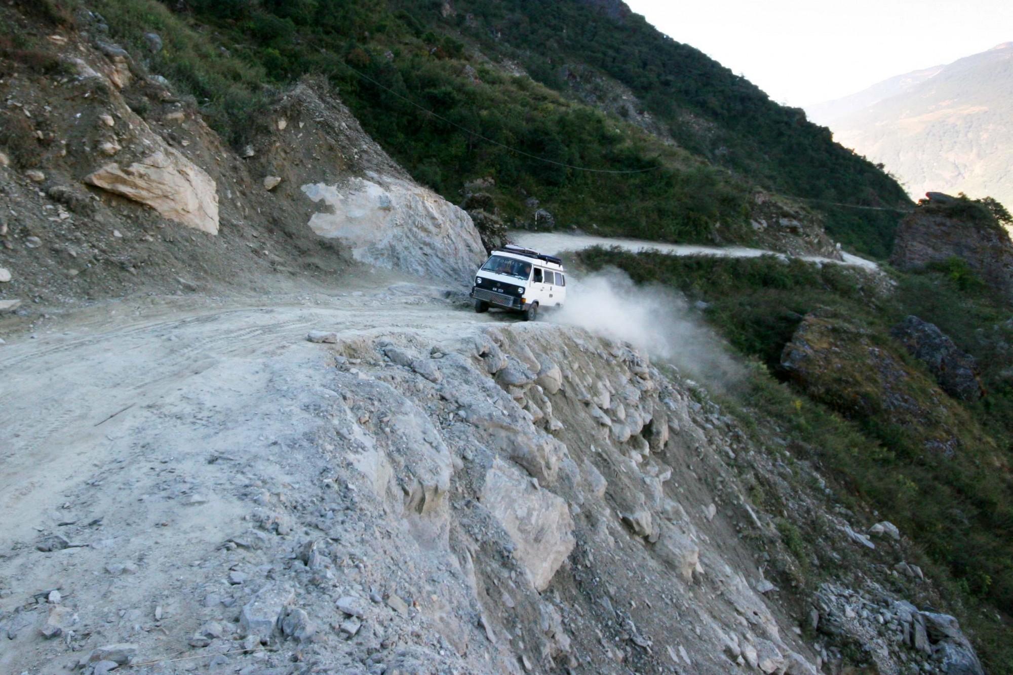 Nacho tries a Tokyo drift high in the Himalayas, Nepal