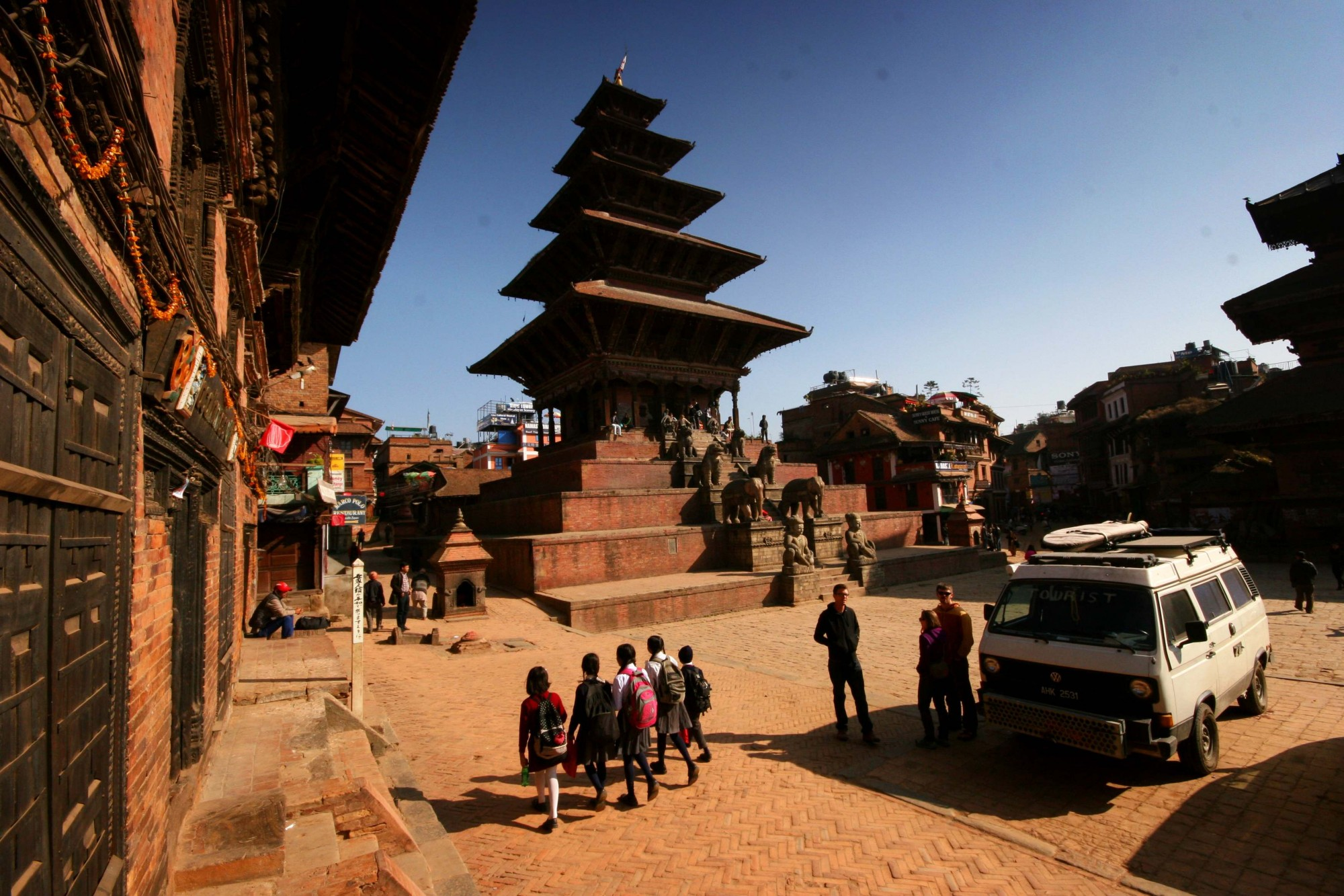 Preparing to leave Kathmandu on the day of the Maoist strike