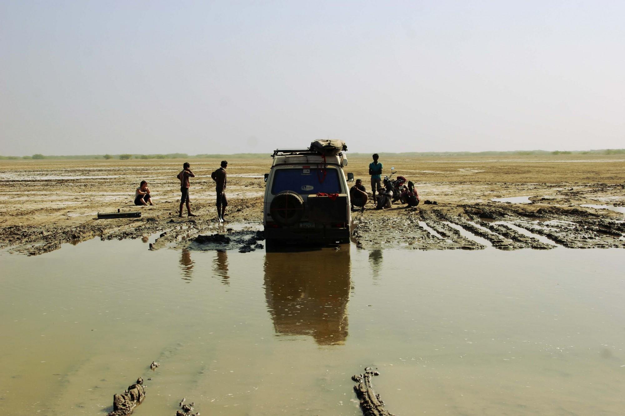 Stuck in the clay on the Pakistani border in Gujarat, India