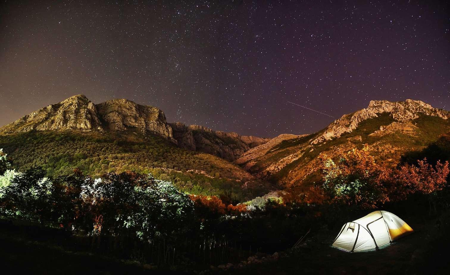 Camping in Montenegro.