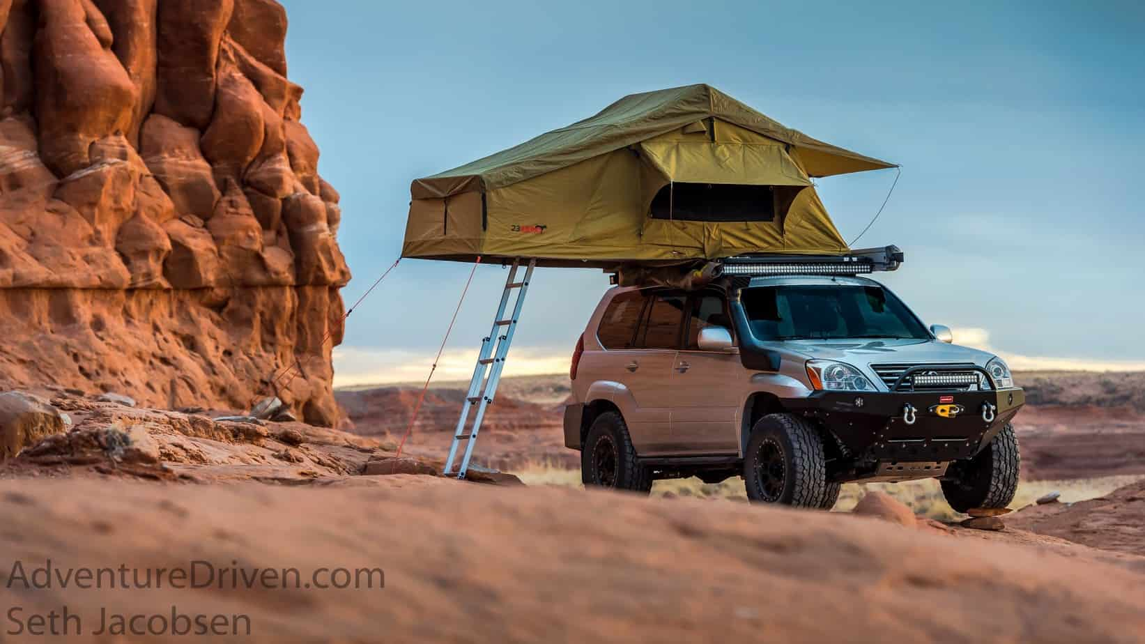 Adventure Driven  Lexy on rock 23 Zero tent-1