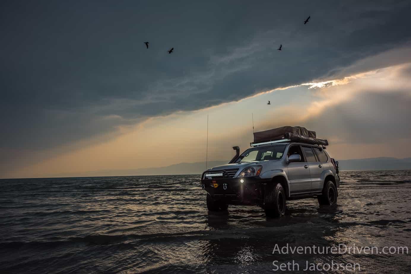 Lexus GX470 Adventure Driven sunset on water-1-2