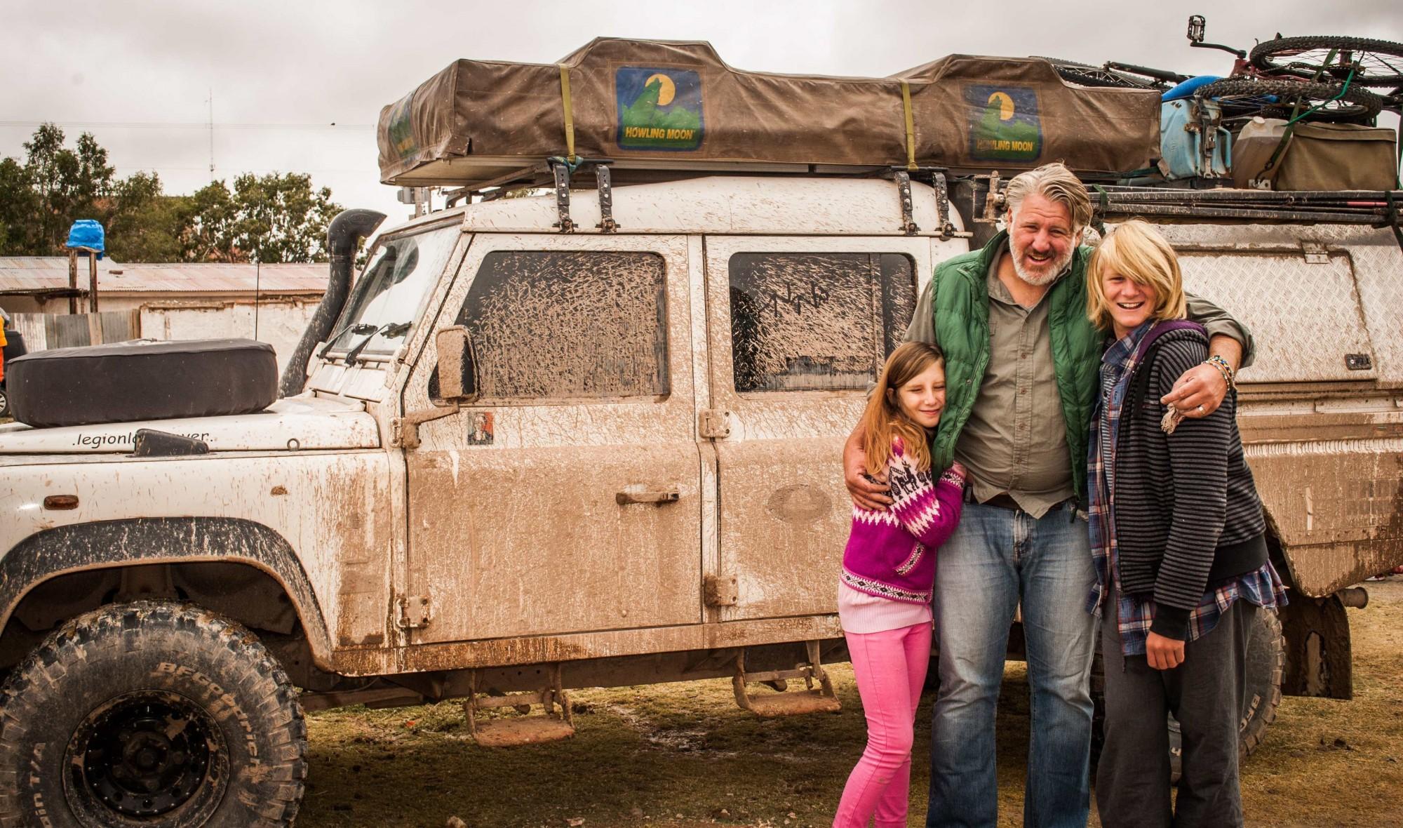 Jessica, Graeme and Keelan, Bolivia. 2015