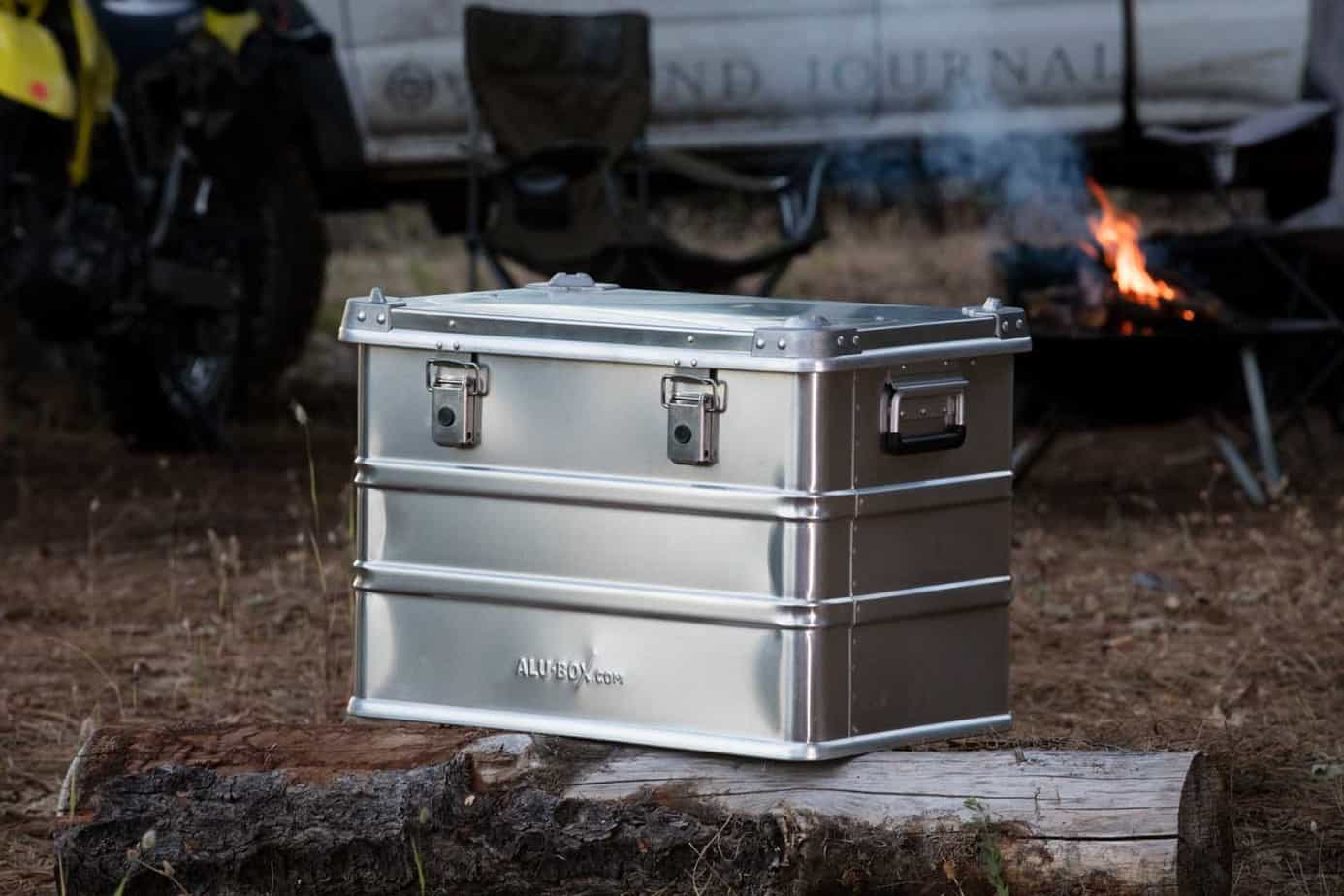 the alu box is another product the overland international staff has used extensively in the field they are regular complements to our standard gear
