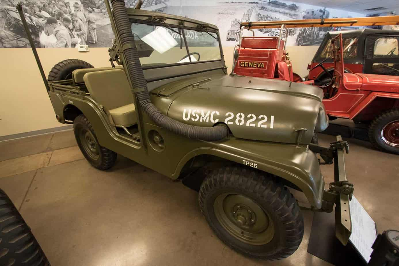 Vehicles Of The Jeep Heritage Museum Expedition Portal 1941 To 1952 Willys M38 A1 Was First Have Rounded Fenders And Hood It Designed For Military Use Served As Standard Light Personnel Transporter
