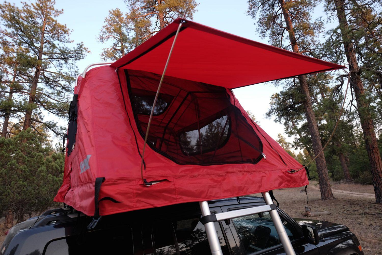 Wet Roof Top Tent