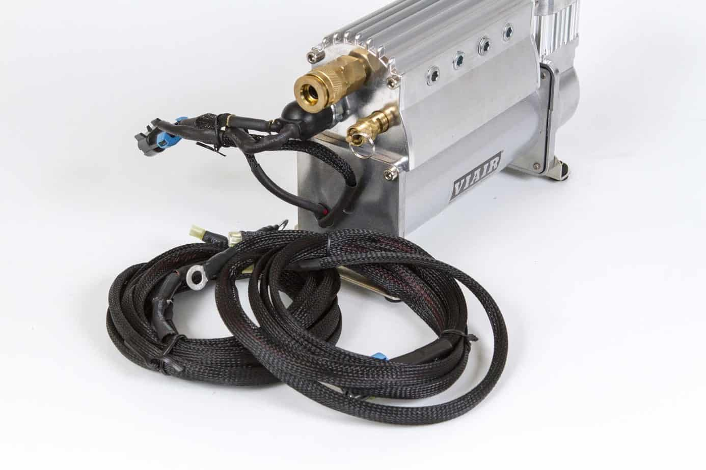 The Overland Journal Air Compressor Test Expedition Portal Psi Wiring Harness Below Left Has An Abrasion Resistant Sleeve And 40 Amp In Line Fuse Pressure Release Valve Npt Output Coupler Attached To A