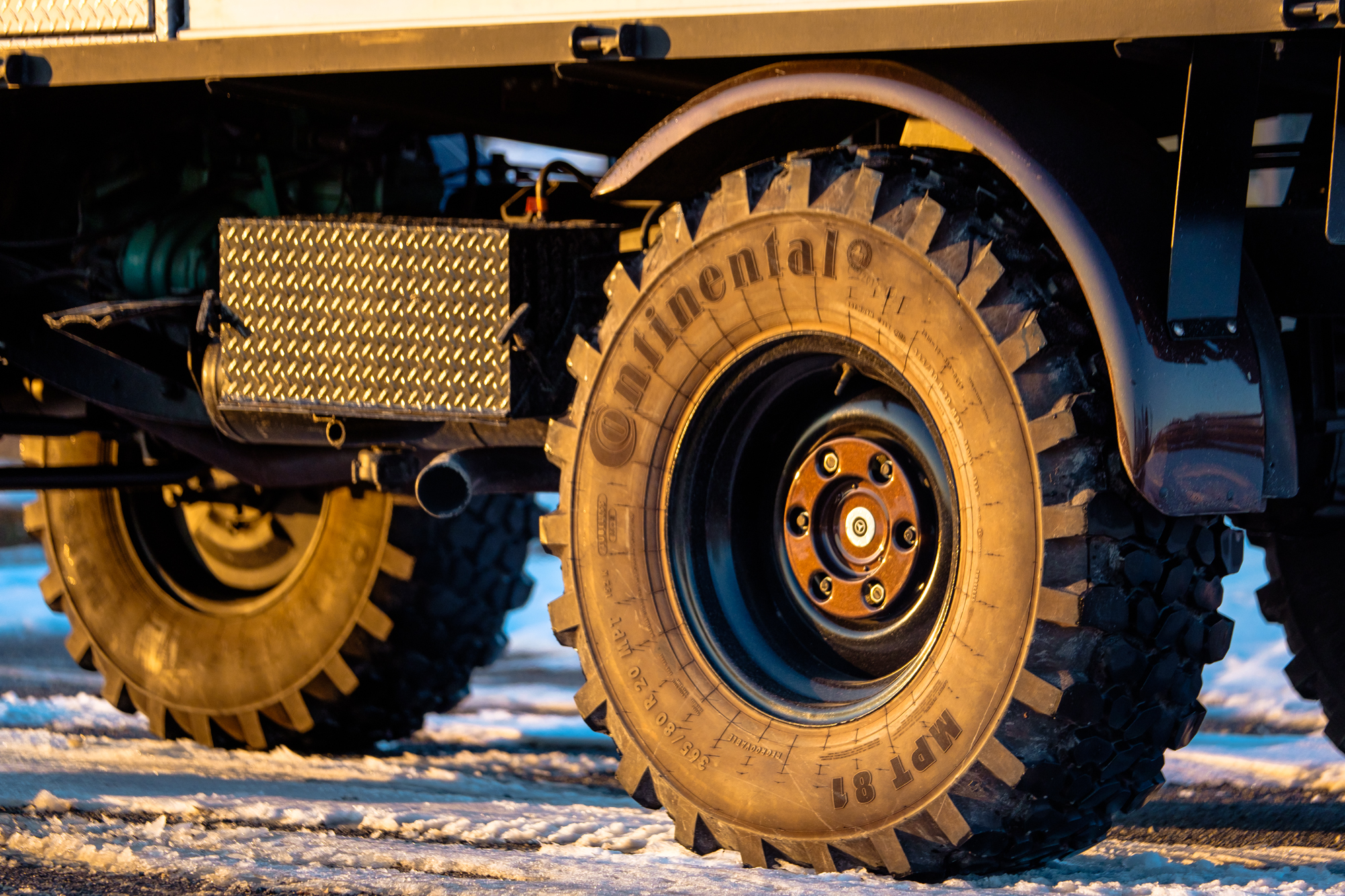 The tyres on this Unimog Off Road Mercedes are massive!
