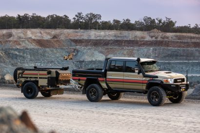 Desert Ops Patriot Camper with Land Cruiser