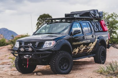 Nissan Destination Frontier on the rocks