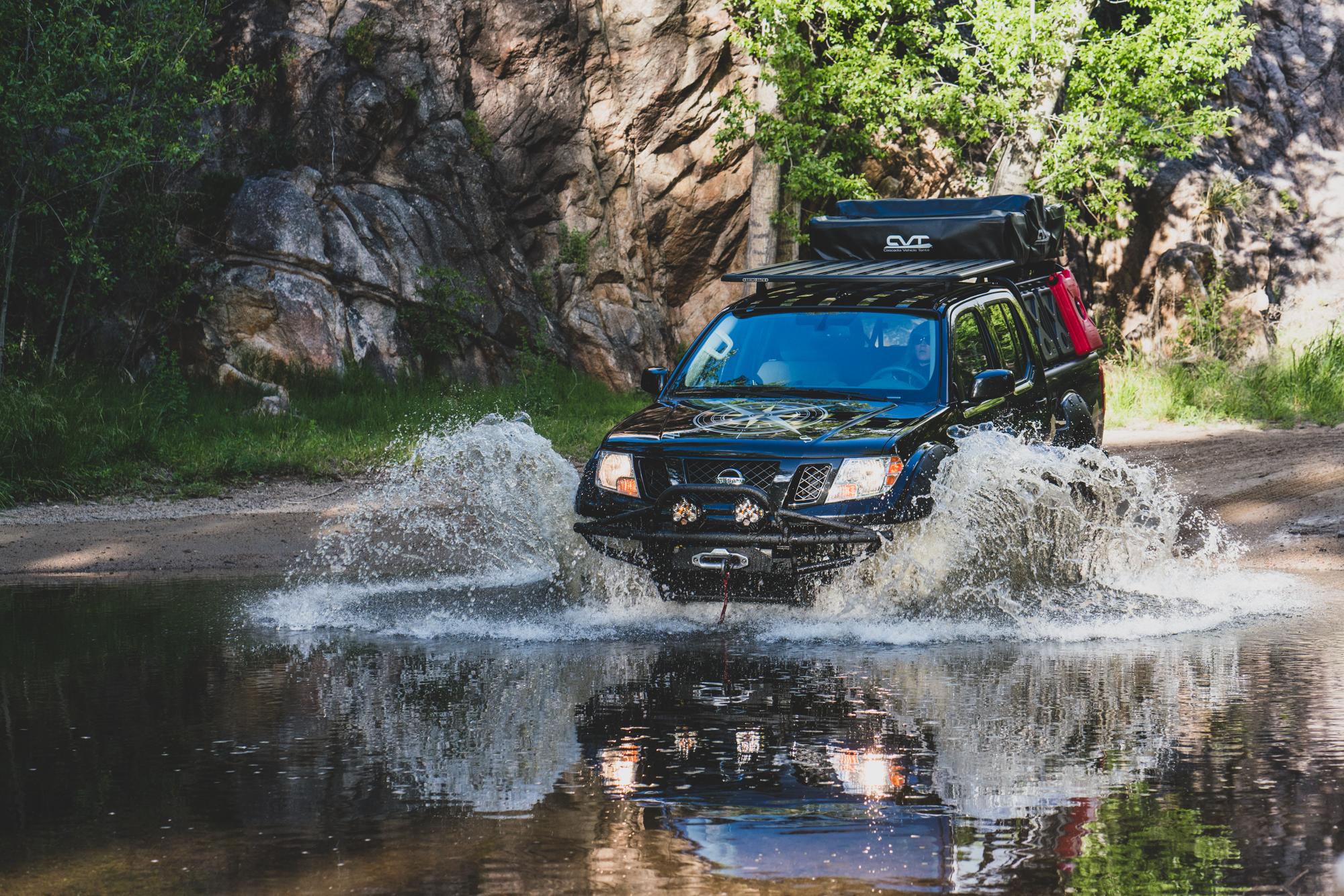 Nissan Destination Frontier water crossing
