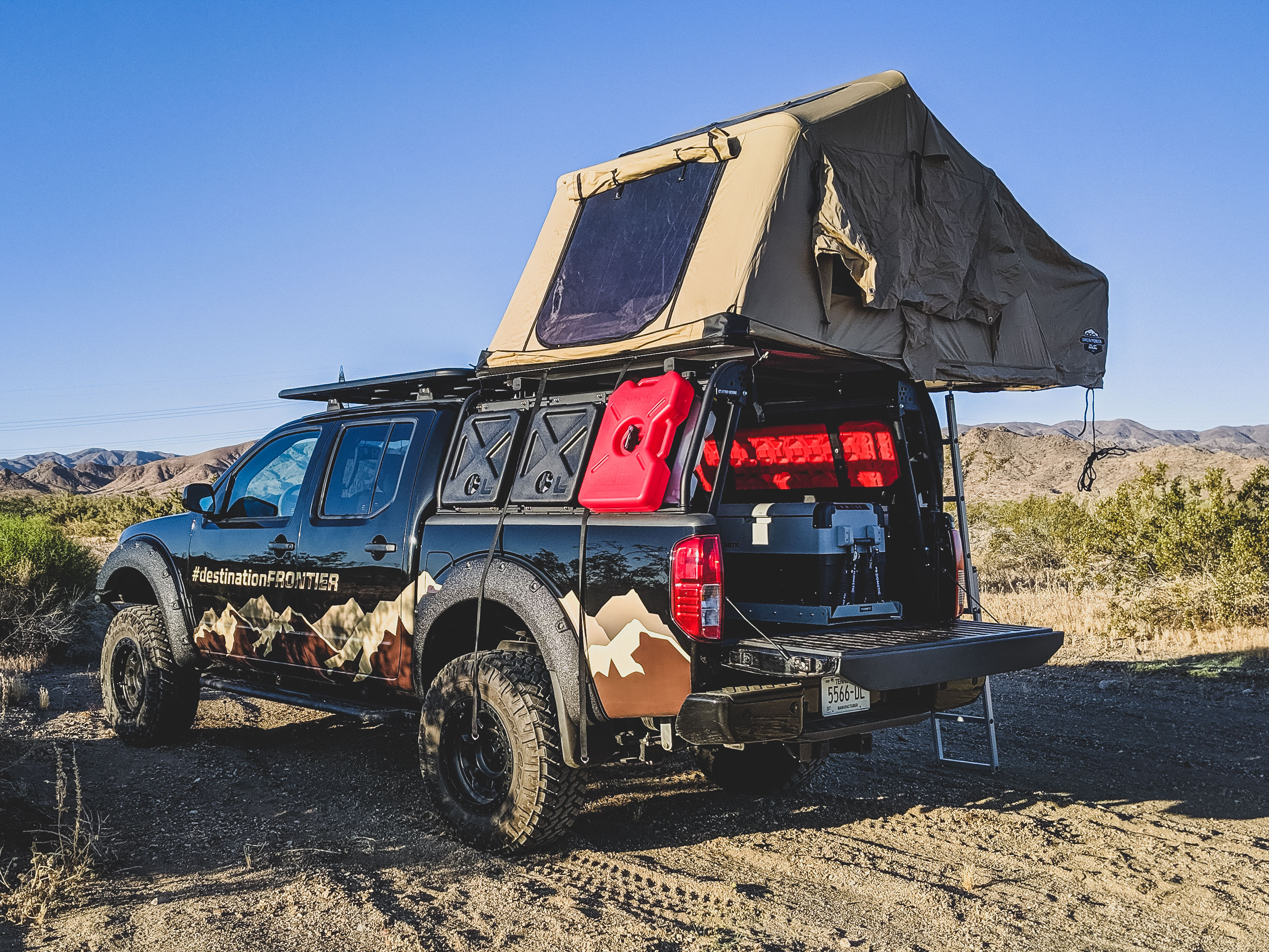 Nissan Frontier with Roof Tent