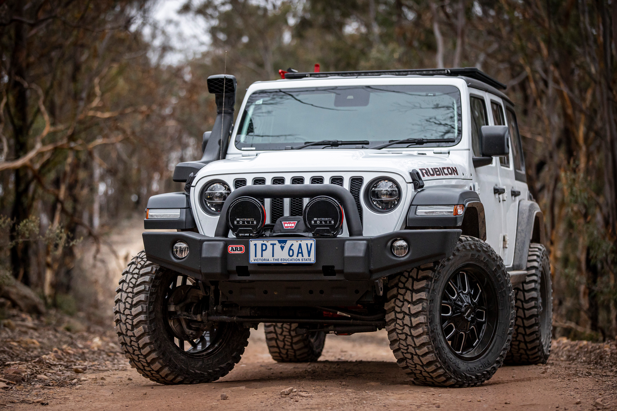 Jeep Rubicon with new ARB Solis LED lights