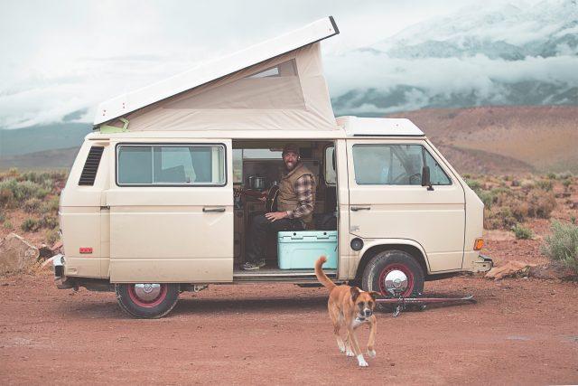 VW campervan off-highway