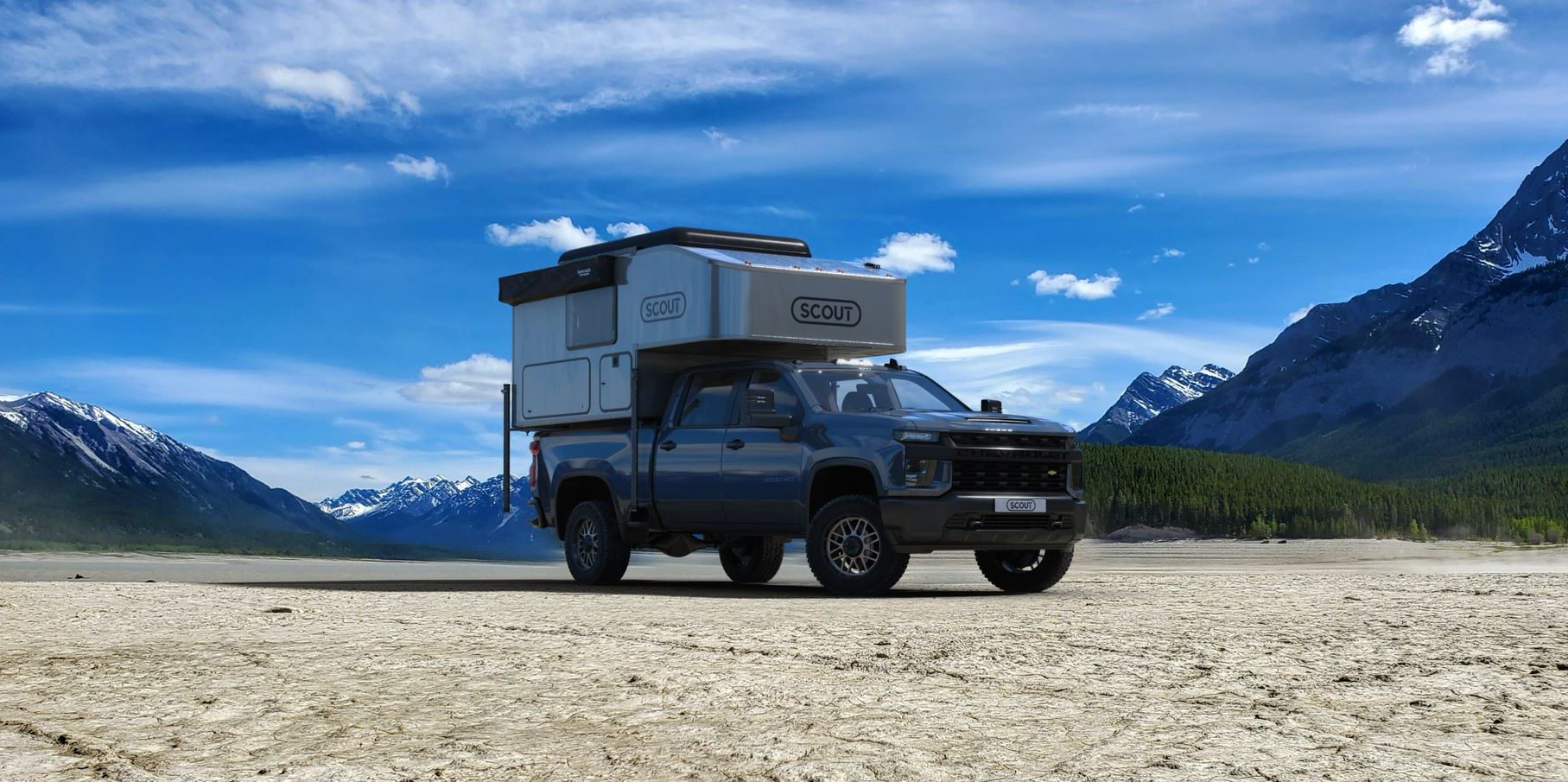 The newest truck camper from Scout Campers, the Kenai