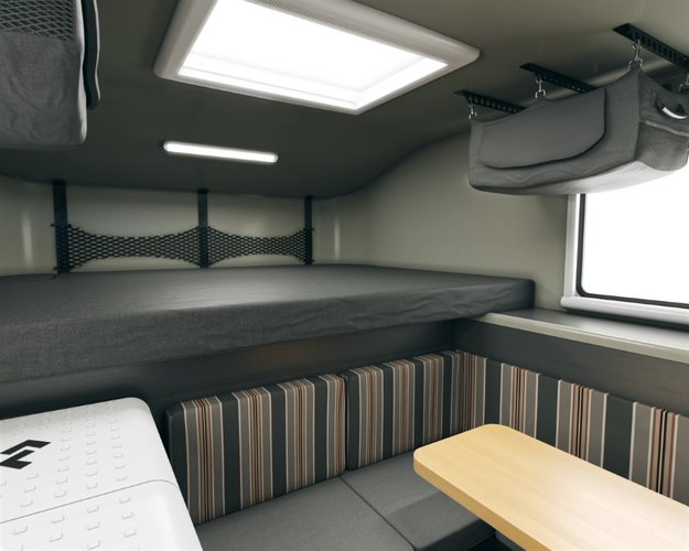 Scout campers kenai truck camper bed and dinette