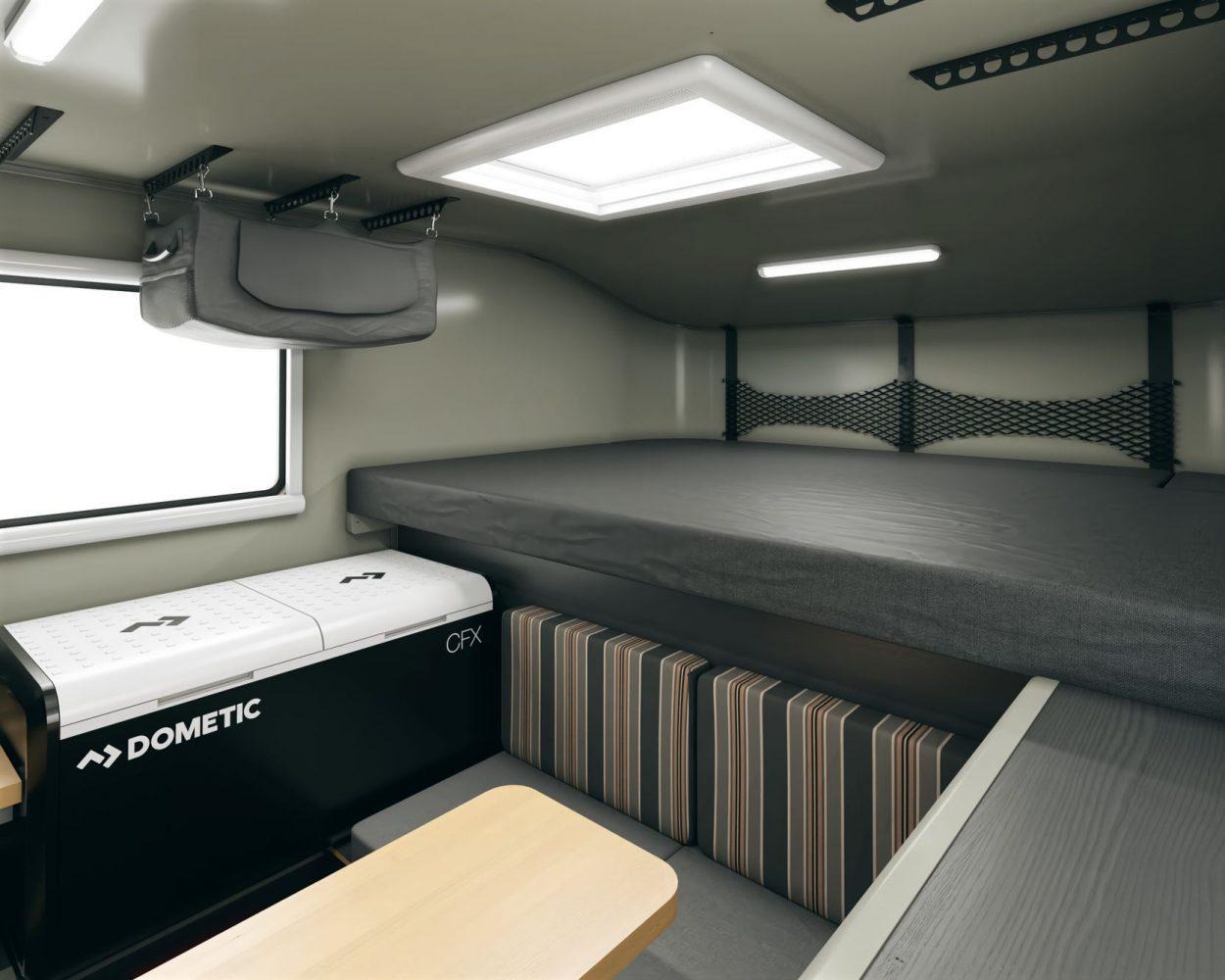 Scout campers kenai truck camper interior layout 2