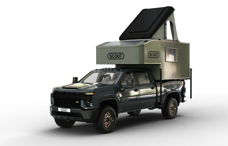 Scout campers kenai truck camper 3/4 view