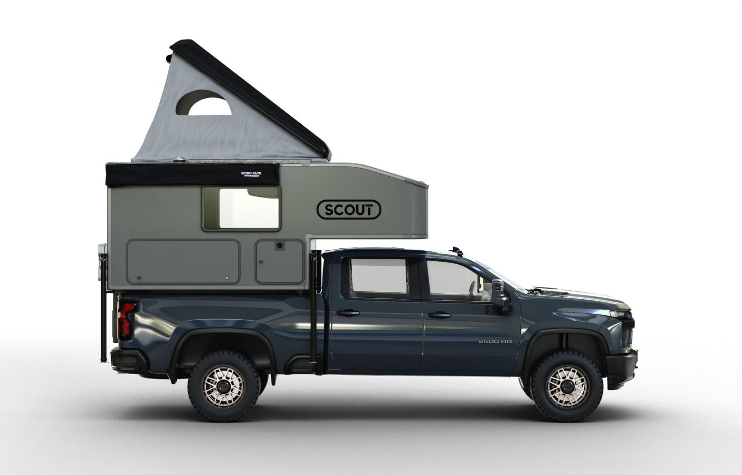 Scout Campers Kenai truck camper side view